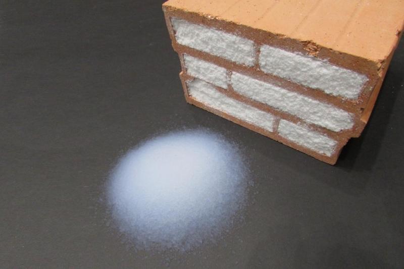 Tường siêu cách nhiệt với gạch chứa đầy hạt khí