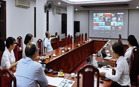 """Hội nghị trực tuyến """"Nghiên cứu vật liệu thích ứng với khí hậu trong bối cảnh KTXH của Việt Nam"""""""